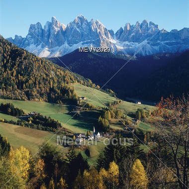 Small Mountain Village, Austria Stock Photo