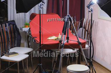 Small Workplace Of The Beginning Stock Photographer Stock Photo