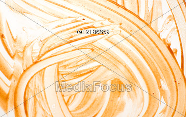 Smeared Ketchup Background, Abstract Pattern Stock Photo