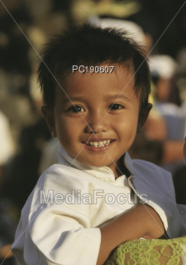 Smiling Young Asian Boy Stock Photo