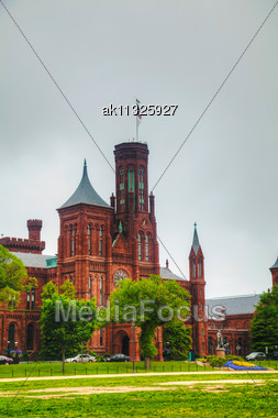 Smithsonian Institution Building (the Castle) In Washington, DC In The Morning Stock Photo