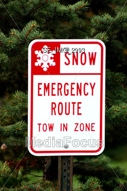 Snow Sign Stock Photo