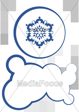 Snowflake And Textbox Winter Xmas Design Stock Photo