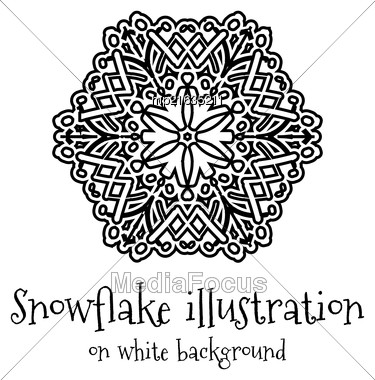 Snowflake Vector Icon Islolated On White Background Stock Photo