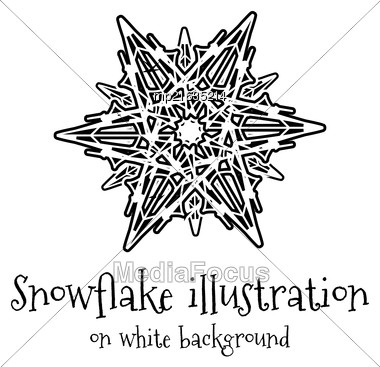 Snowflake Vector Icon Islolated On White Background Stock Photo