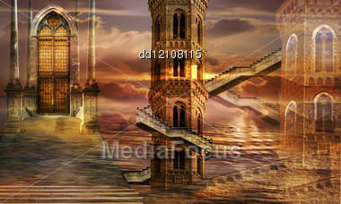 Soaring Towers Stock Photo