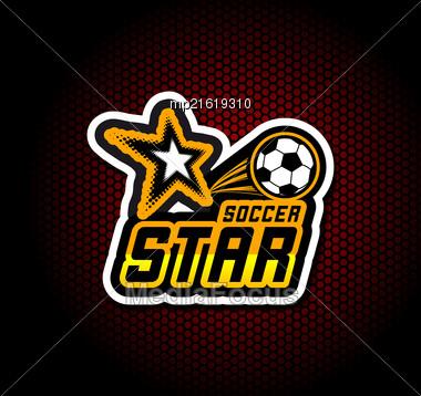Soccer Badge Logo Template, Football Design. Vector Illustration Stock Photo