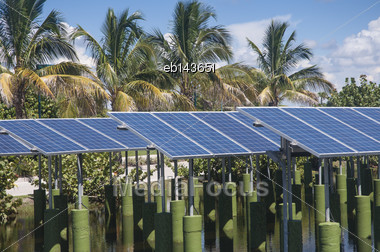 Solar Panel Installation In Florida Stock Photo