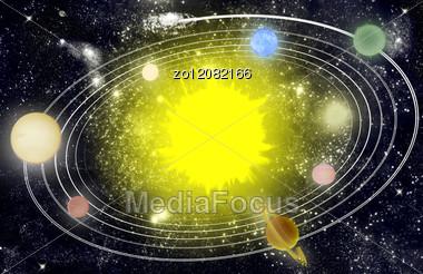 Solar System. Stock Photo