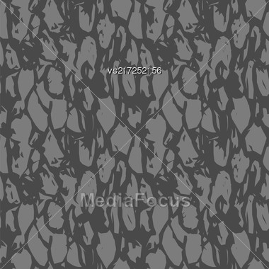 Solid Grey Stone Seamless Pattern. Rock Floor Design Stock Photo