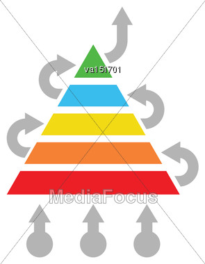 Solution Optimization Concept Abstract Pyramid Vector Illustration Stock Photo