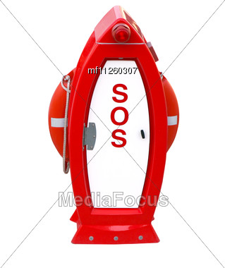 SOS Post Stock Photo