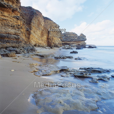South Australian Cliff Beach Stock Photo