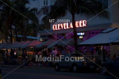 Southbeach Nightlife - Miami, FL USA Stock Photo