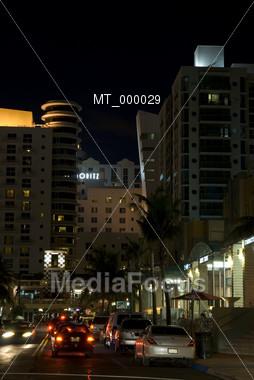 Southbeach Nightscene - Miami, FL USA Stock Photo