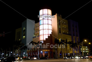Southbeach Nightscene, Miami, Fl USA Stock Photo