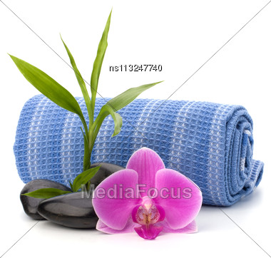 Spa Concept. Towel Roll Stock Photo