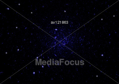 Space Stars And Nebula As Dark Abstract Background Stock Photo