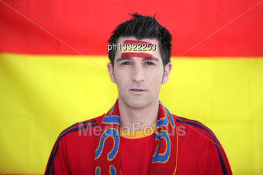Spain Supporter Stock Photo