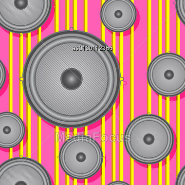 Speakers Seamless Background. Vector Illustration. Stock Photo