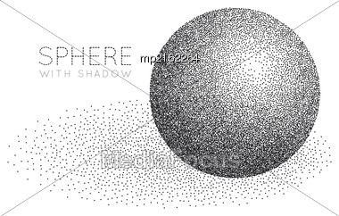 Sphere Made Of Black Dots Stock Photo