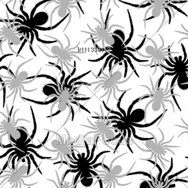 Spiders Pattern, Abstract Seamless Texture Stock Photo