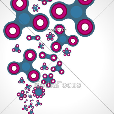 Spinners, Set Of Toys On A Light Background. Vector Illustration Stock Photo