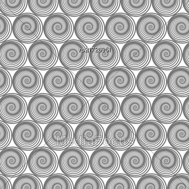 Spiral Line Seamless Background. Ornamental Endless Texture. Oriental Geometric Ornament Stock Photo