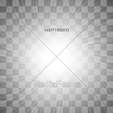 Spotlights On Dark Checkered Background. Stage Spotlight Background Stock Photo