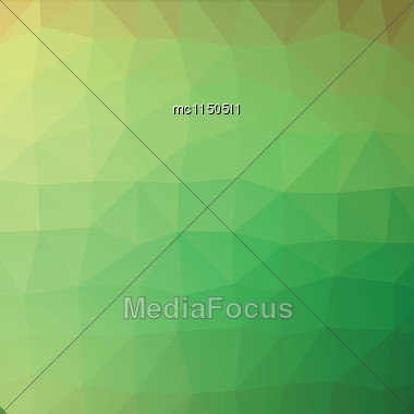 Spring Green Geometric Low Poly Style Vector Illustration Graphic Background Stock Photo