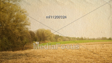 Spring landscape. Countryside Stock Photo