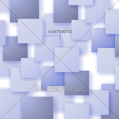 Square Blank Background. Set Of Blue Squares. Squares Pattern Stock Photo
