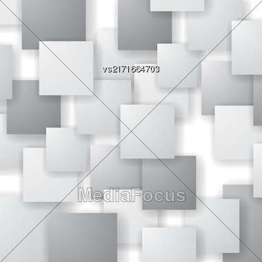 Square Blank Background. Set Of Grey Squares. Squares Pattern Stock Photo