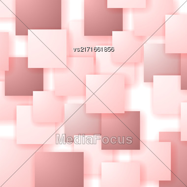 Square Blank Background. Set Of Red Squares. Squares Pattern Stock Photo
