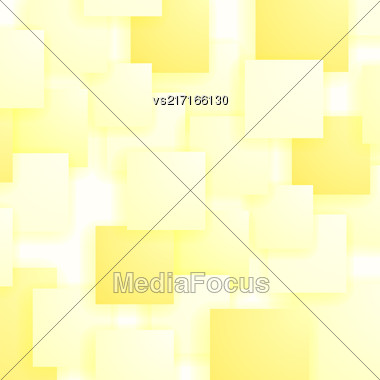 Square Blank Background. Set Of Yellow Squares. Squares Pattern Stock Photo