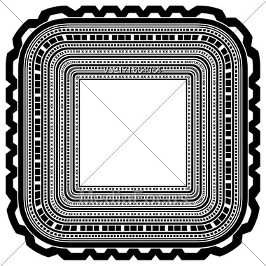 Square Decorative Frame Isolated On White Background Stock Photo
