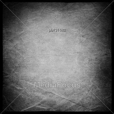 Square Shaped Grunge Background Mask. Isolated On Black Stock Photo