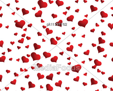 St. Valentine Day Seamless Background With Hearts Stock Photo