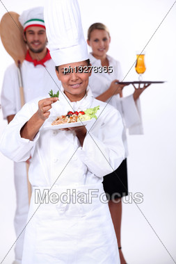 Staff Of Catering Sector Stock Photo