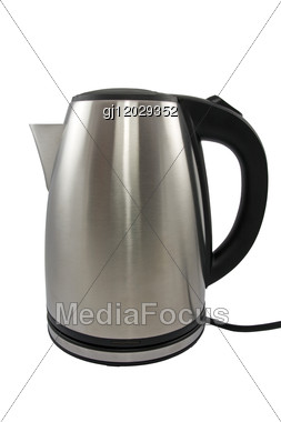 Stainless Steel Electric Kettle Stock Photo