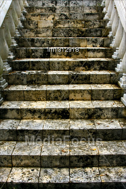 Stairs Step And Column Marble Gran Bahama Bahamas Stock Photo