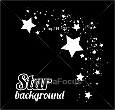 Star Abstract Background Vector Illustration On Black Stock Photo