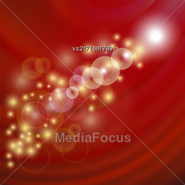 Star Light Red Wave Background. Blurred Red Pattern Stock Photo