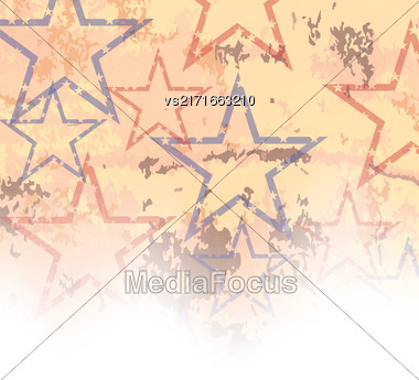 Starry Grunge Background For Independence Day Of America Stock Photo