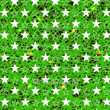 Starry Grunge Green Background For Independence Day Of America Stock Photo