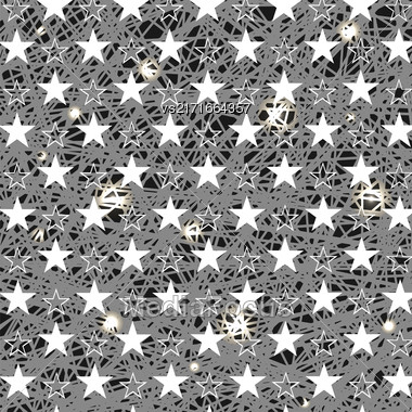 Starry Grunge Grey Background For Independence Day Of America Stock Photo