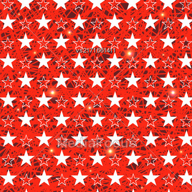 Starry Grunge Red Background For Independence Day Of America Stock Photo
