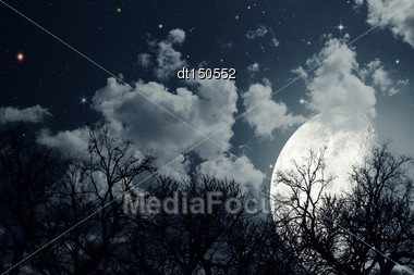 Starry Night. Abstract Environmental Backgrounds Stock Photo