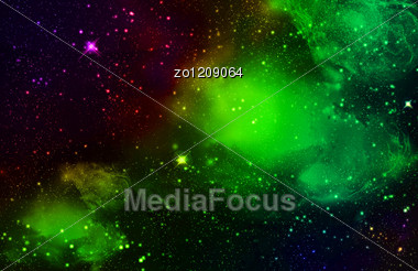 Stars In Deep Space. Stock Photo