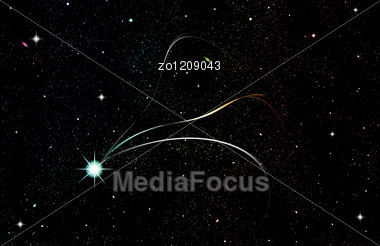 Stars In Space. Stock Photo